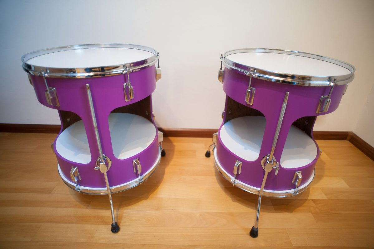 floortom tafel - paars - dubbel