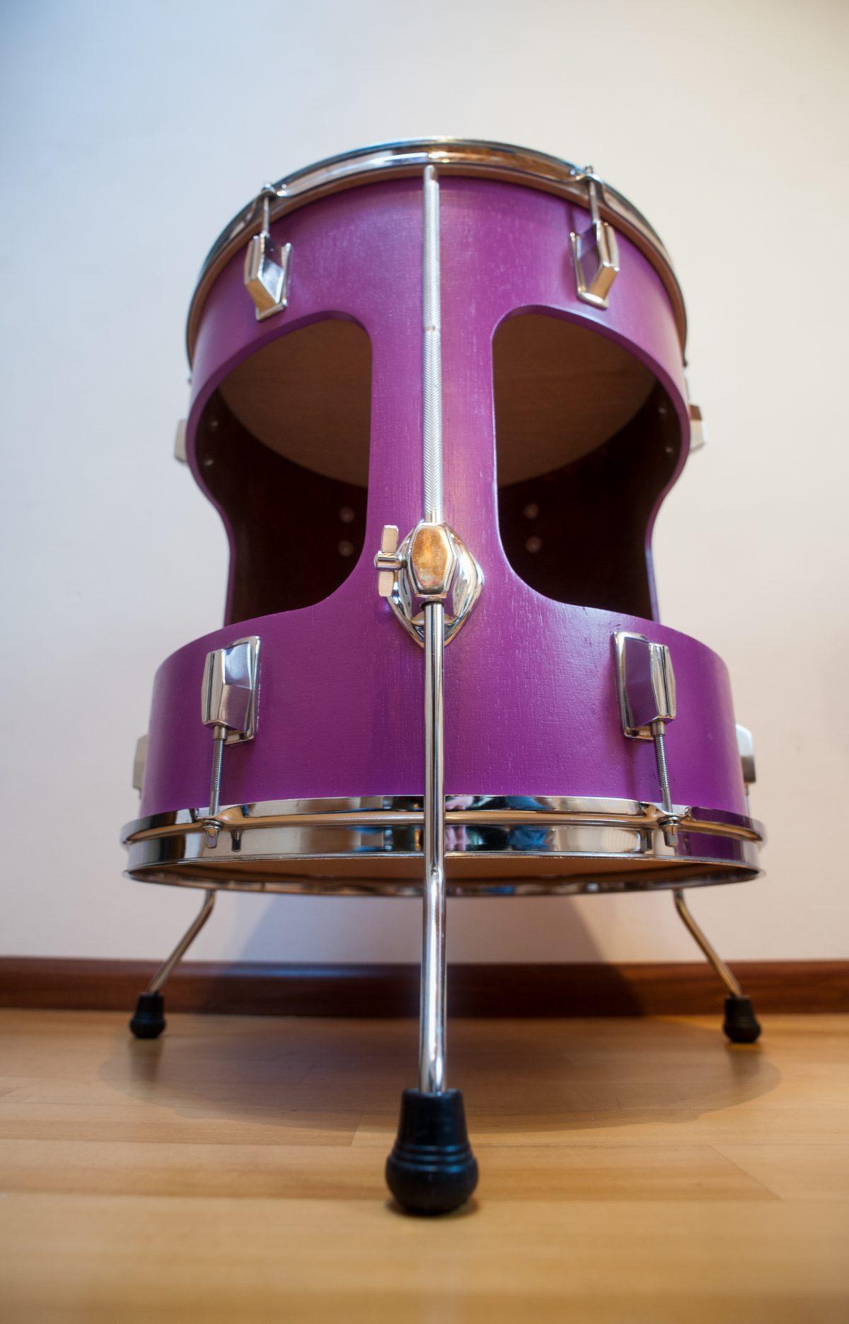 floortom tafel - paars - closeup