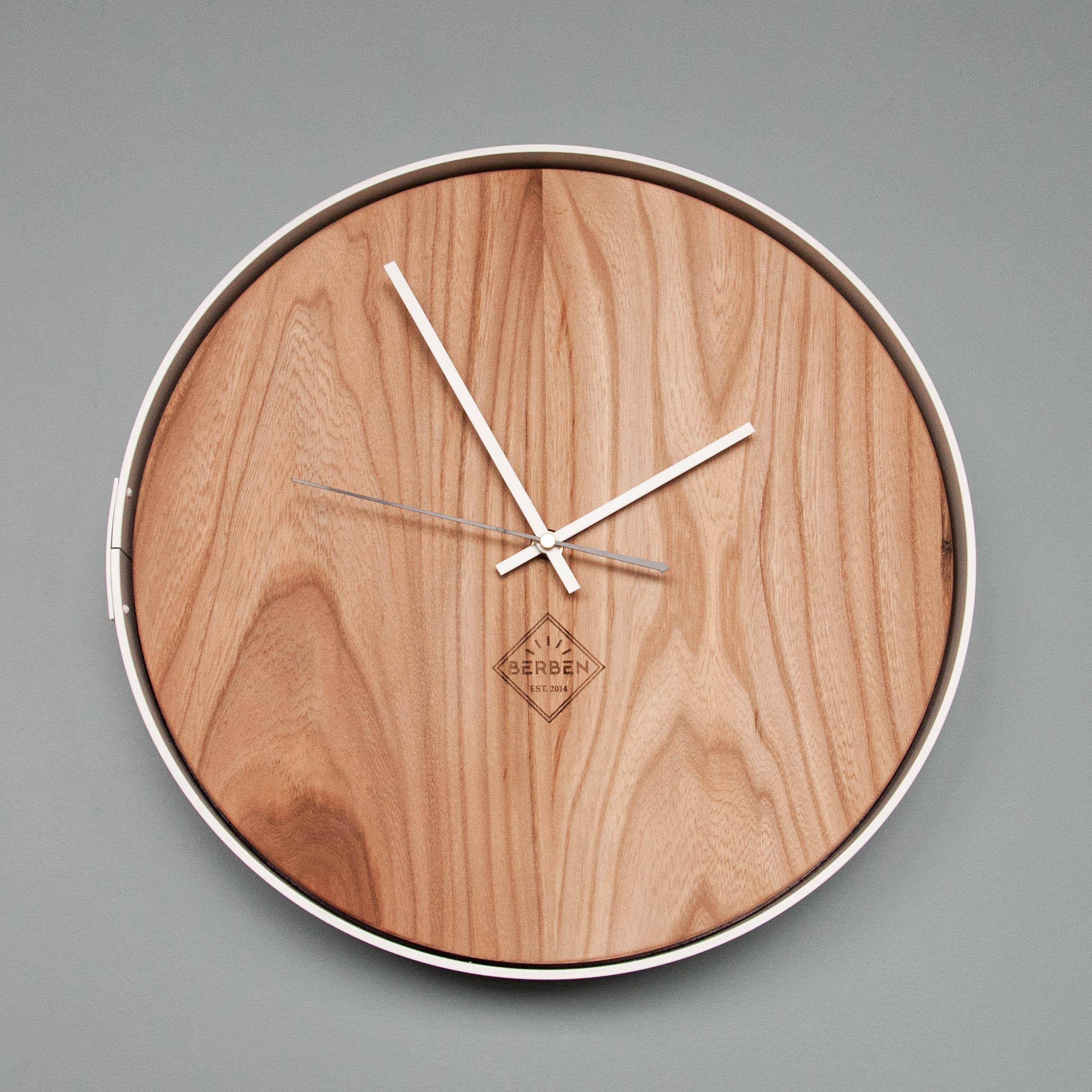 Solid Wood Clock Minimalistic Berben Design